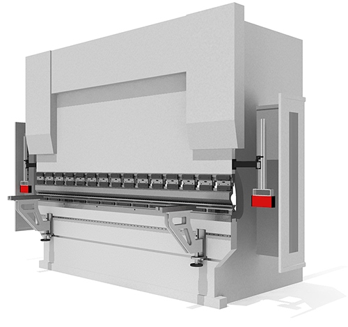 Press brake safety system location