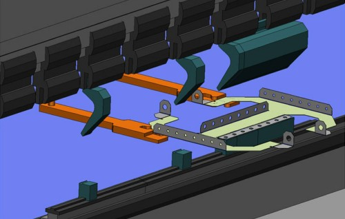 Bending press brake software simulation