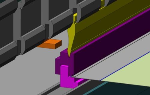 Симуляция гибки листогибочного пресса на программном обеспечении