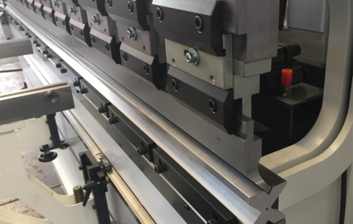 bending tools installed on the press brake