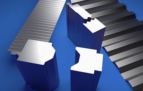 Utensili per presse piegatrici per applicazioni speciali e geometrie speciali