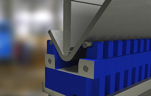 Adjustable press brake dies