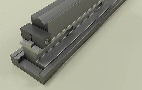 Promecam press brake 2V-die installation