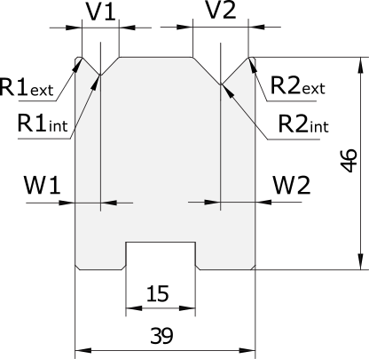 Promecam press brake 2V-die PDD-007