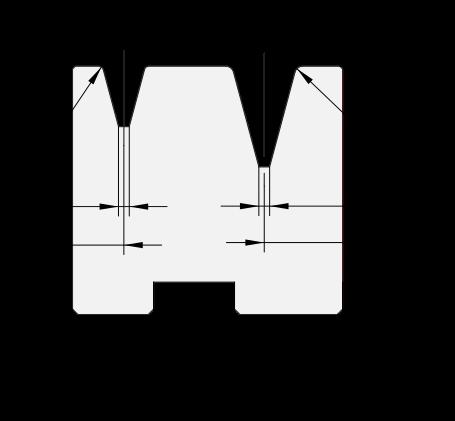 Promecam press brake 2V-die PDD-009