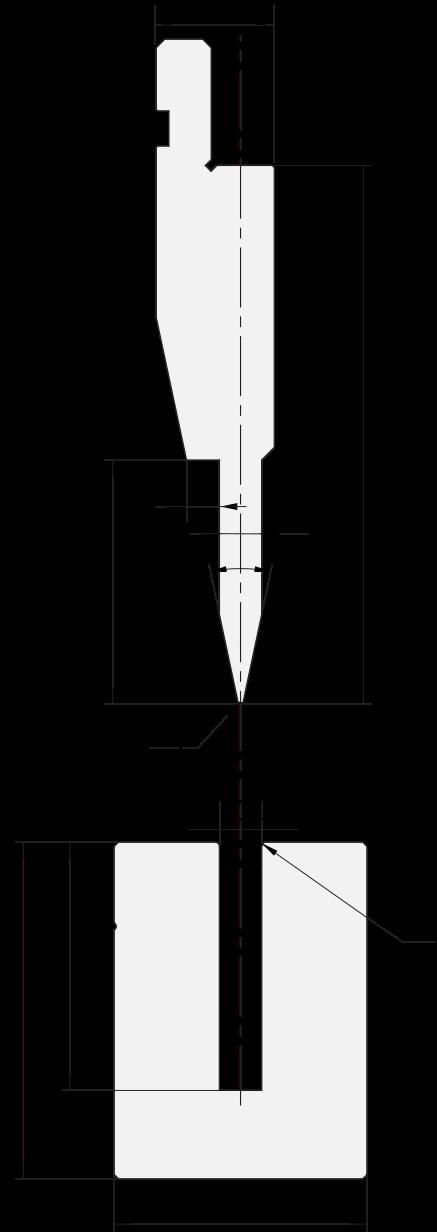 Zudrückwerkzeuge gesetzt Promecam für Abkantpresse PFP-001 2406