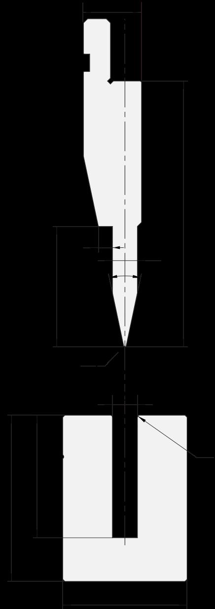 Zudrückwerkzeuge gesetzt Promecam für Abkantpresse PFP-001 2416