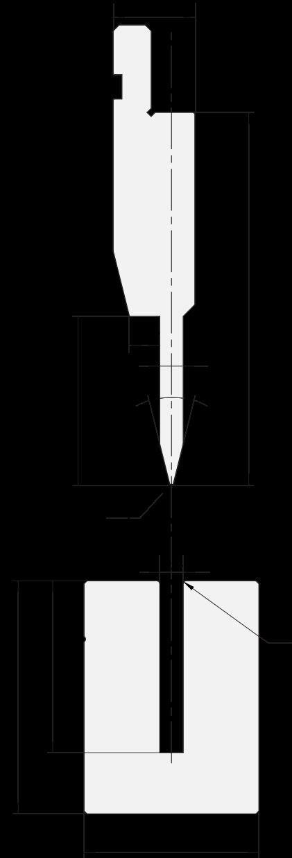 Zudrückwerkzeuge gesetzt Promecam für Abkantpresse PFP-001 2806