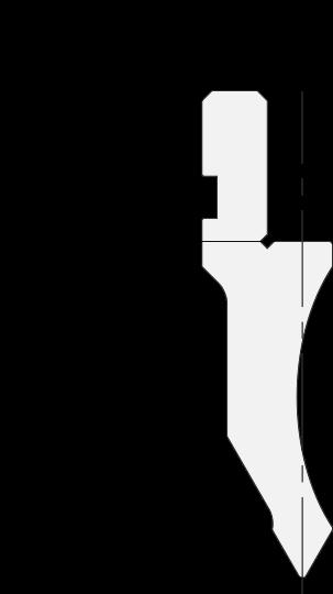 Allgemeiner Stempel (Oberwerkzeuge) Promecam für Abkantpresse PGP-012 6008