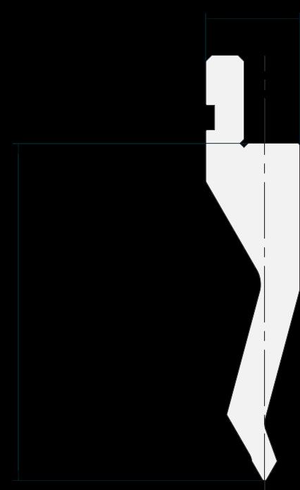 Allgemeiner Stempel (Oberwerkzeuge) Promecam für Abkantpresse PGP-013 6008