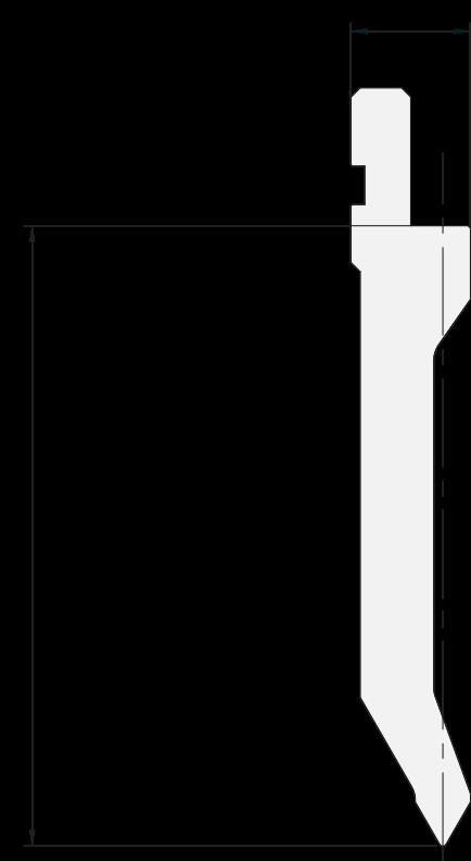 Allgemeiner Stempel (Oberwerkzeuge) Promecam für Abkantpresse PGP-015 6008