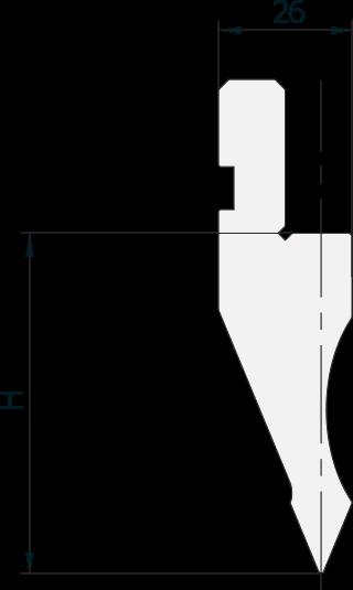 Allgemeiner Stempel (Oberwerkzeuge) Promecam für Abkantpresse PGP-016 4505