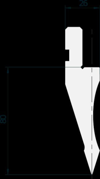 Punzone generale Promecam per pressa piegatrice PGP-017 3505