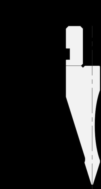 Punzone generale Promecam per pressa piegatrice PGP-018 3508