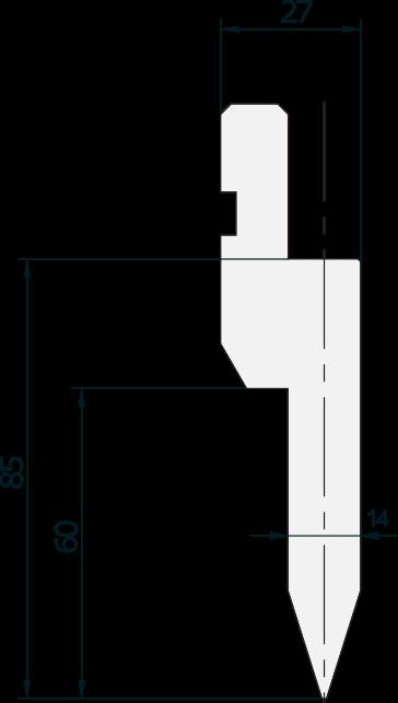 Punzone generale Promecam per pressa piegatrice PGP-019 3508
