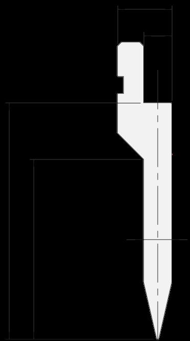 Punzone generale Promecam per pressa piegatrice PGP-026 2610