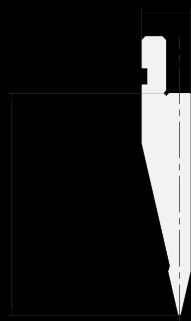 Punzone generale Promecam per pressa piegatrice PGP-027 2608