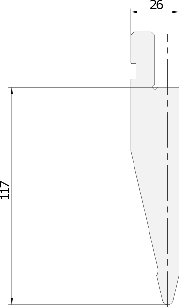 Punzone generale Promecam per pressa piegatrice PGP-027 2630