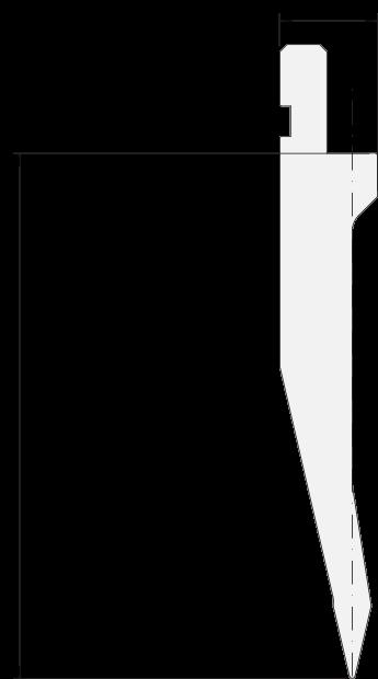 Punzone generale Promecam per pressa piegatrice PGP-028 2608