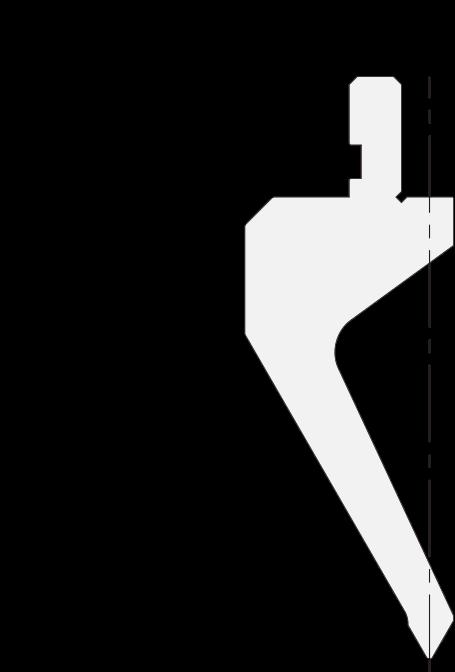 Geißfuß (Gooseneck) Stempel (Oberwerkzeuge) Promecam für Abkantpresse PGS-012 6008