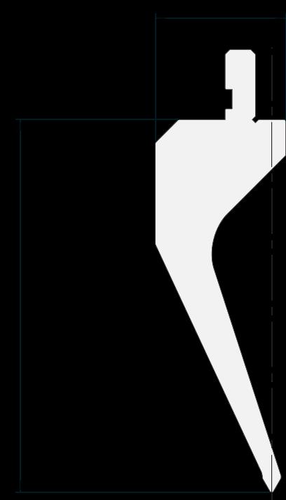 Geißfuß (Gooseneck) Stempel (Oberwerkzeuge) Promecam für Abkantpresse PGS-014 6008