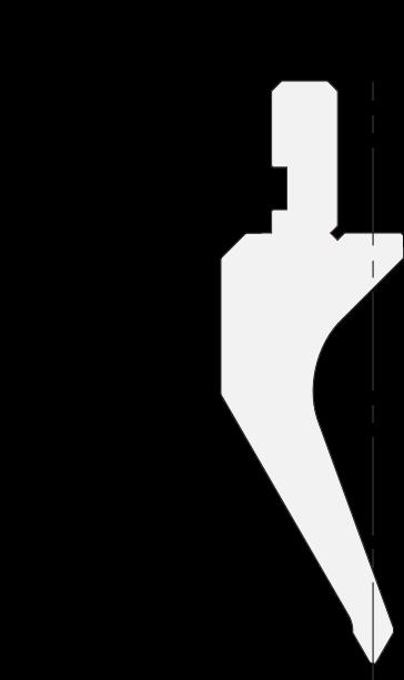 Geißfuß (Gooseneck) Stempel (Oberwerkzeuge) Promecam für Abkantpresse PGS-015 6008