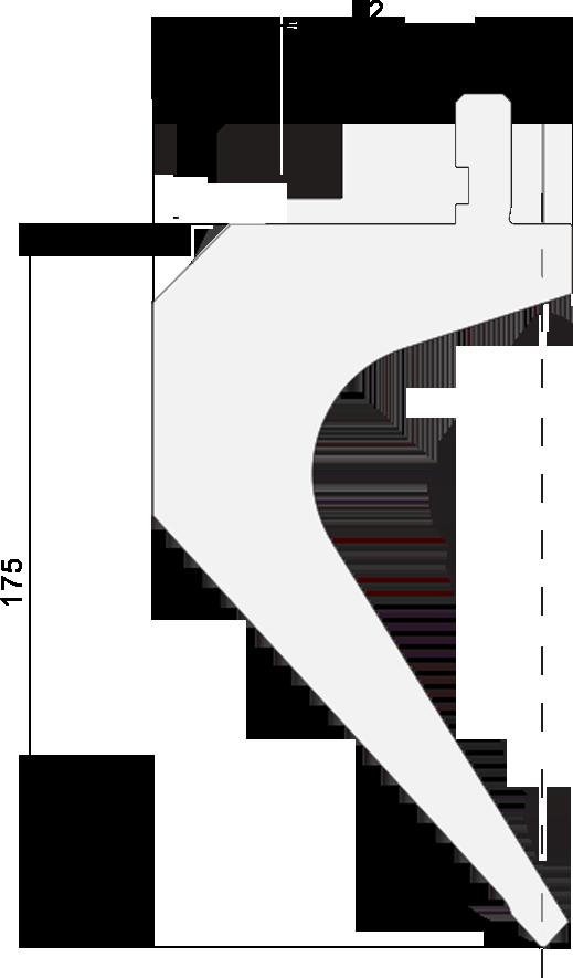 Promecam press brake gooseneck punch PGSS-146