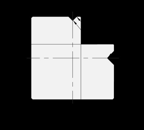 Matrice 2V Promecam per pressa piegatrice PMD-004 90MV