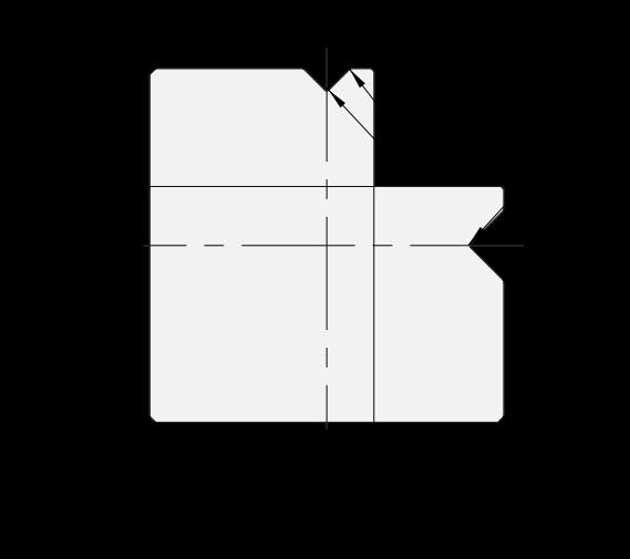 Matrice 2V Promecam per pressa piegatrice PMD-005 90MV
