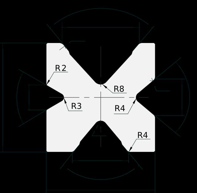 Matrice 4V Promecam per pressa piegatrice PMDS-203 8060