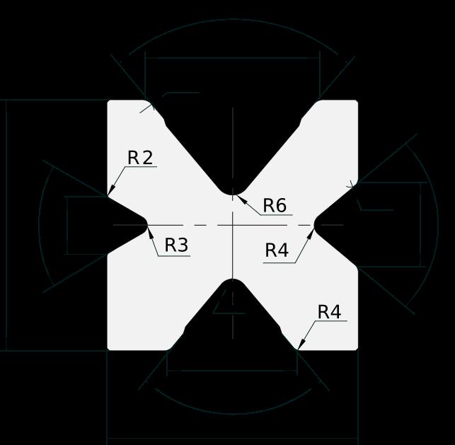 Matrice 4V Promecam per pressa piegatrice PMDS-204 8060
