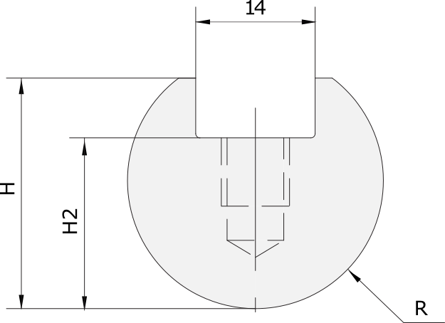Radius Einsatz Promecam für Abkantpresse PRI-012
