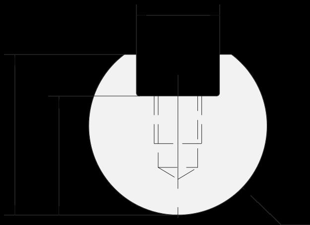 Promecam press brake radius insert PRI-012