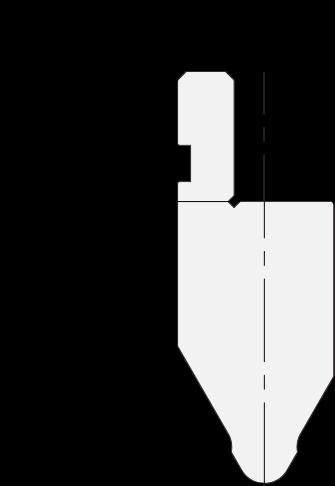 Promecam press brake radiused punch PRP-001 6060