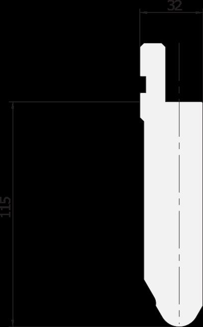 Promecam press brake radiused punch PRP-002 6010