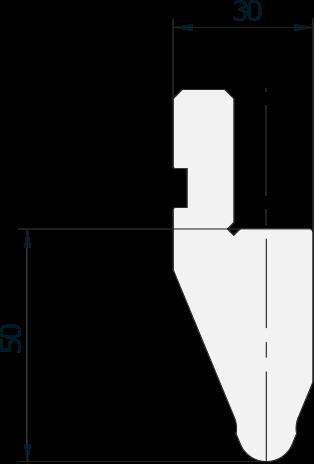 Promecam press brake radiused punch PRP-004 4560