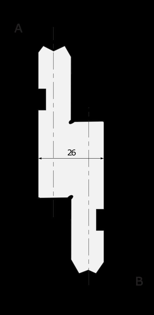 Promecam press brake universal holder PRP-008H