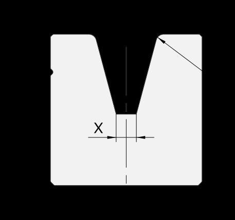 Promecam press brake 1-V big dies PSD-002
