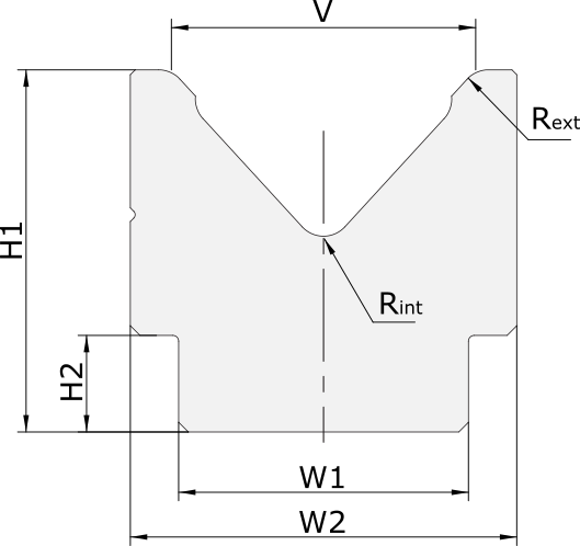 Promecam press brake 1-V big dies PSD-003