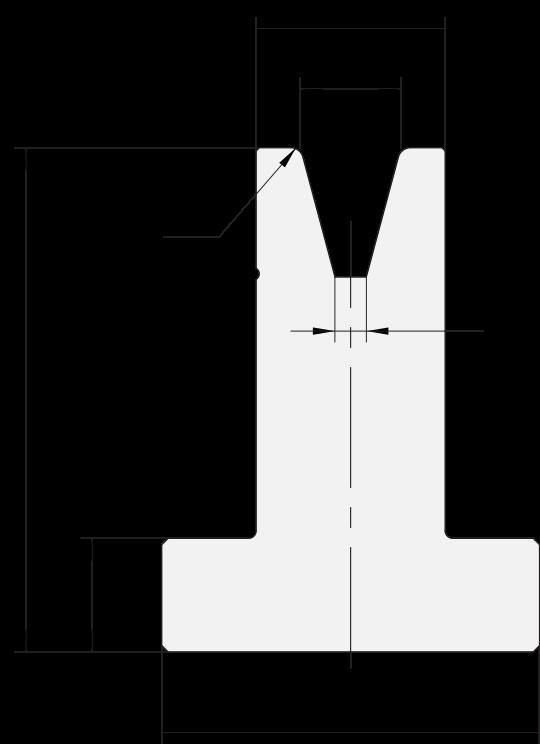 T-Matrizen (Unterwerkzeuge) Promecam (Euro) für Abkantpresse PTD-006
