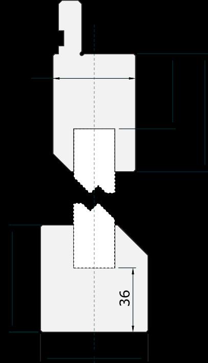 Set di supporti Promecam per pressa piegatrice PZD-001H