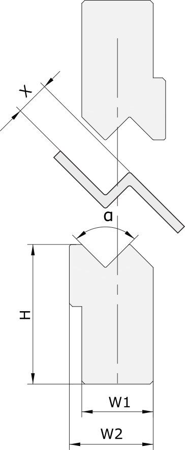 Z-inserti Promecam per pressa piegatrice PZI-001